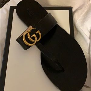 New Gucci black Lifford Nero sandals